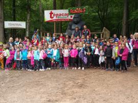 Groupe de 80 primaires, au parc Tépacap de Bitche