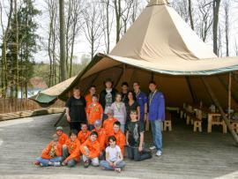 Les scouts, au parc Tépacap de Bitche