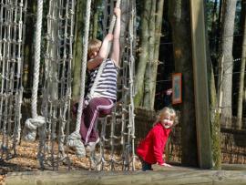 Tépatrial un parcours d'arbre en arbre, à 50 cm du sol au parc Tépacxap de Bitch